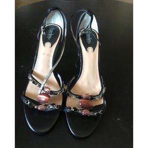 Charles David Stone embellished shoes